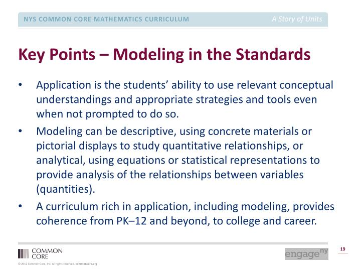 Key Points – Modeling in the Standards