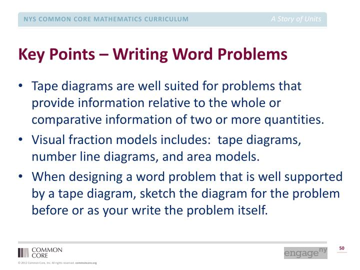Key Points – Writing Word Problems