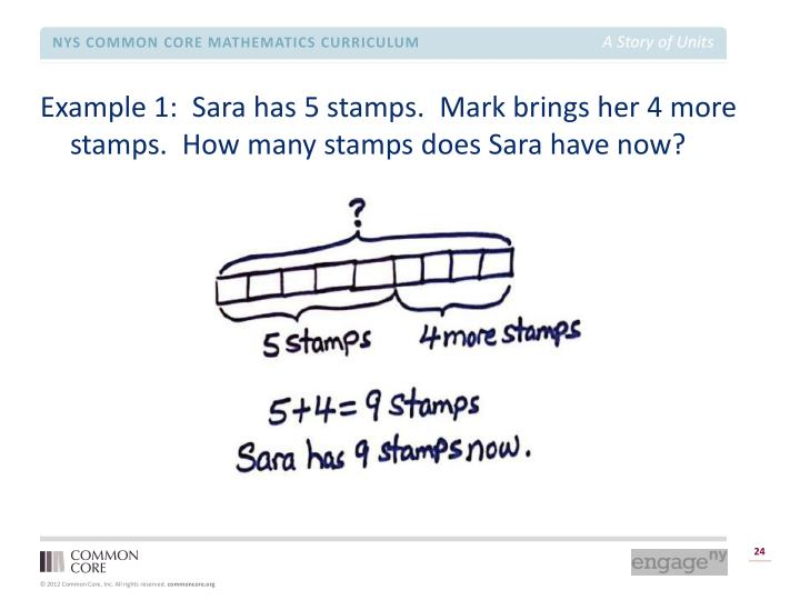 Example 1:  Sara