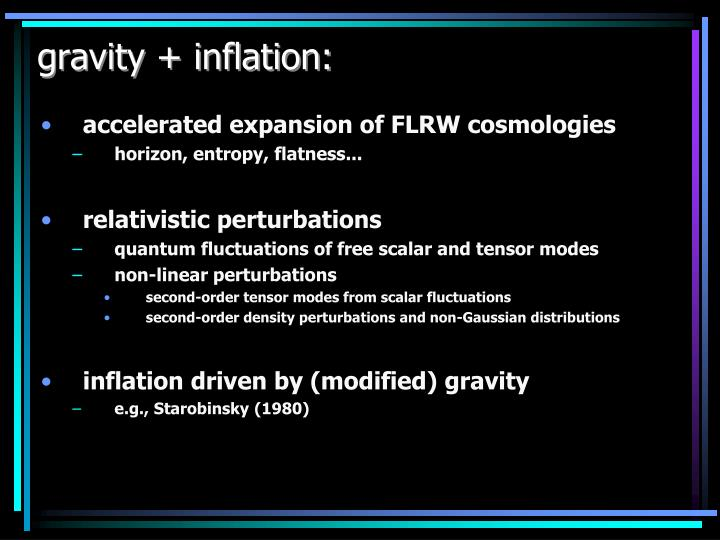 Gravity inflation