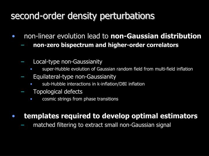 second-order density perturbations