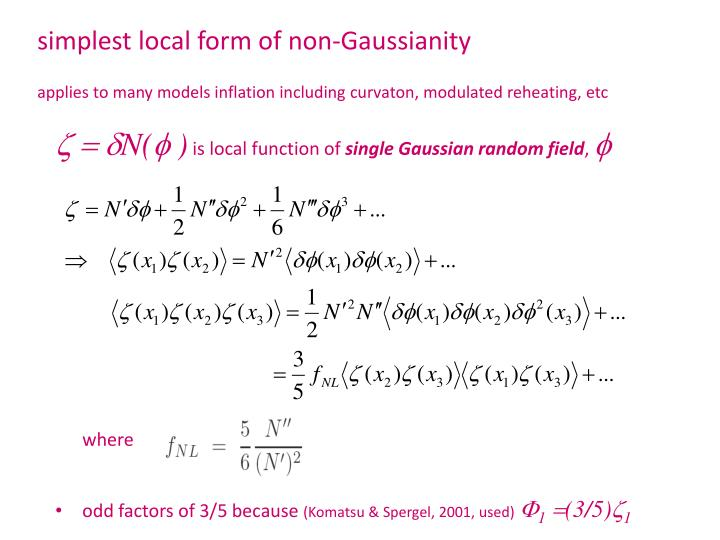 simplest local form of non-Gaussianity