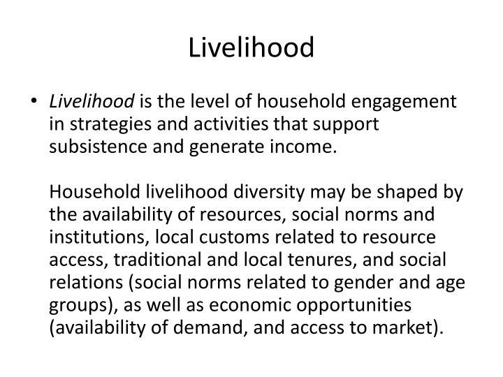 Livelihood