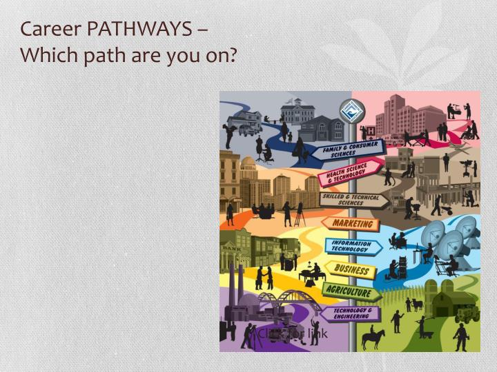 Career pathways which path are you on