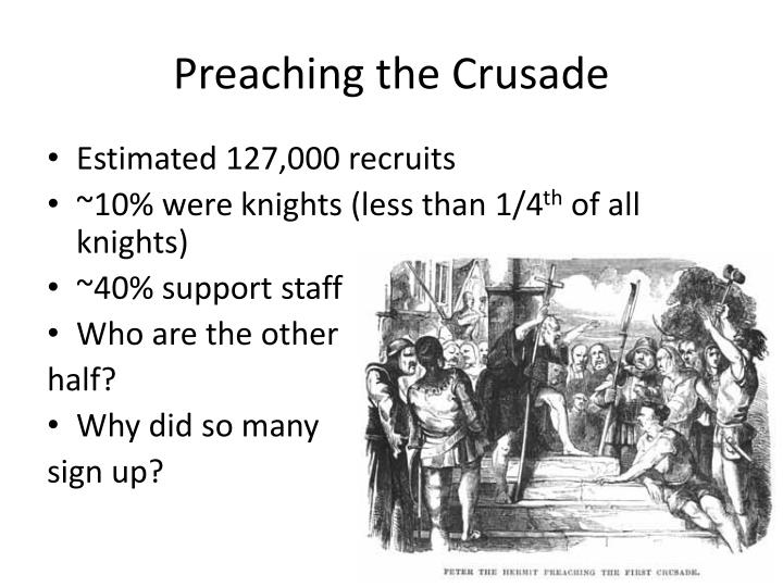 Preaching the crusade