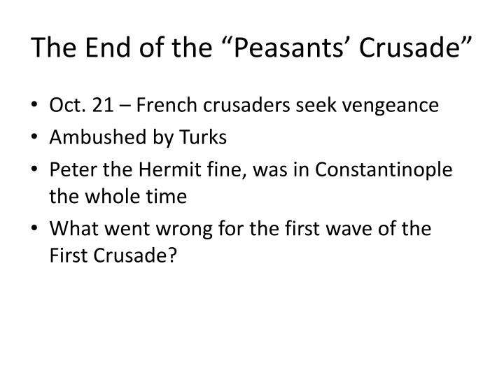 "The End of the ""Peasants' Crusade"""