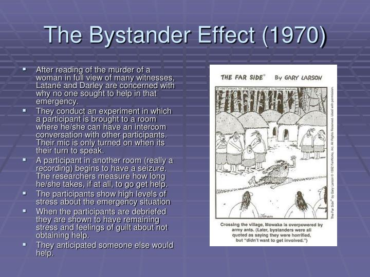 bystander effect conclusion 2018-6-10 also known as the bystander effect, bystander apathy  the experiments ultimately led them to the conclusion that there are many social and situational.
