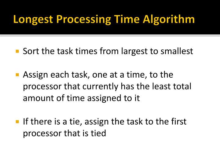 Longest Processing Time Algorithm