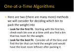 one at a time algorithms1