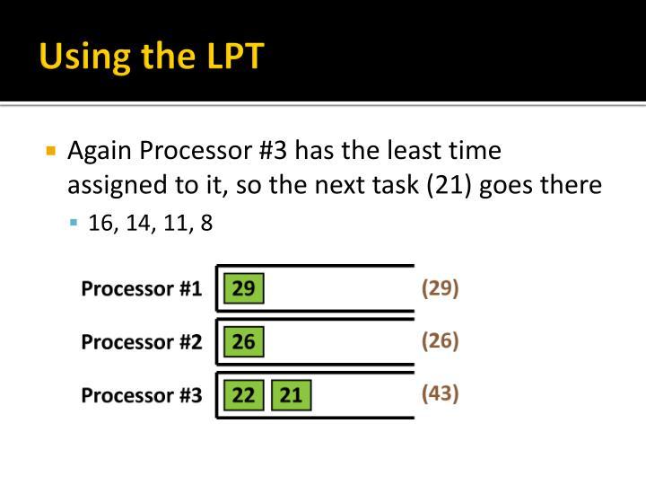 Using the LPT