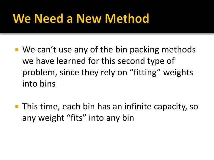 We Need a New Method