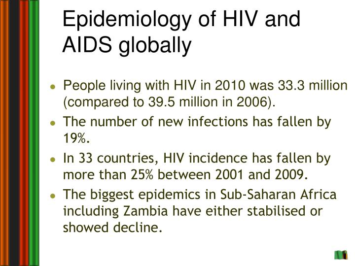 Epidemiology of HIV and AIDS globally