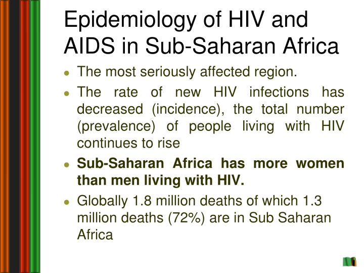 Epidemiology of HIV and AIDS in Sub-Saharan Africa
