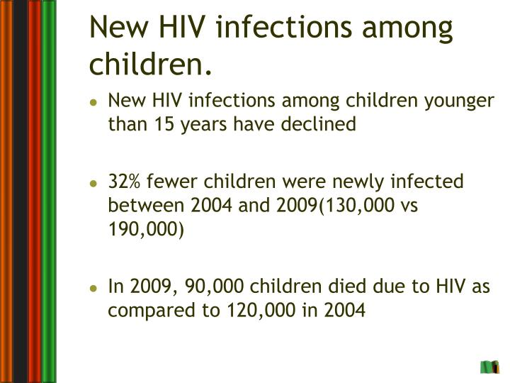 New HIV infections among children.