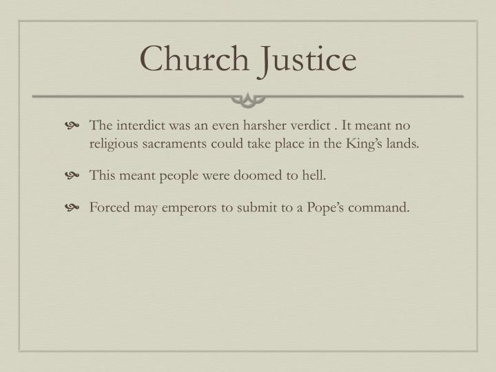 Church Justice