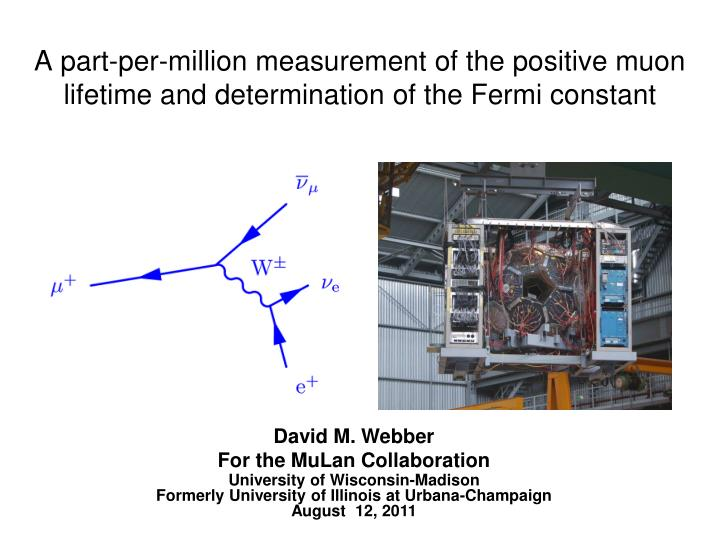 A part-per-million measurement of the positive muon lifetime and determination of the Fermi constant