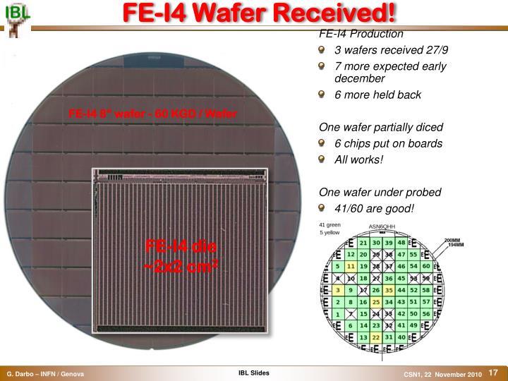 FE-I4 Wafer Received!