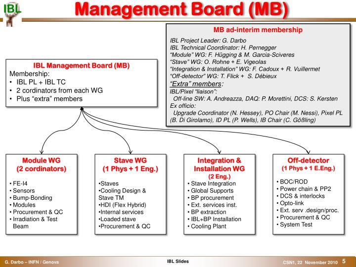Management Board (MB)