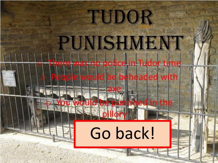 Tudor punishment