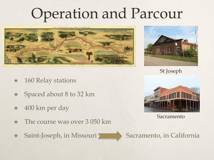 Operation and parcour