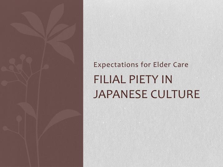 Expectations for elder care