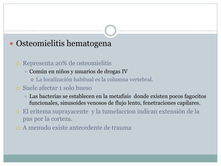 Osteomielitis hematogena