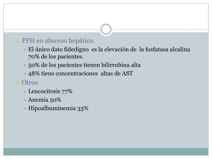 PFH en absceso hepático.