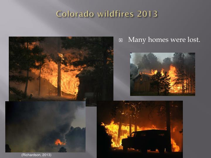 Colorado wildfires 2013