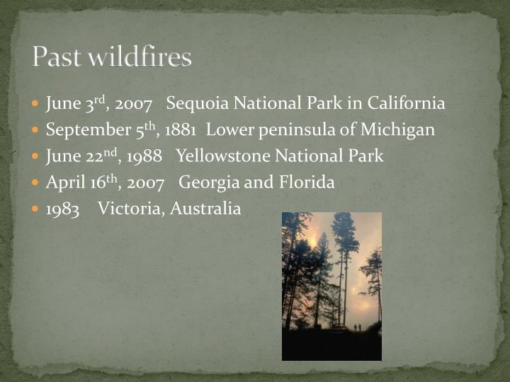 Past wildfires