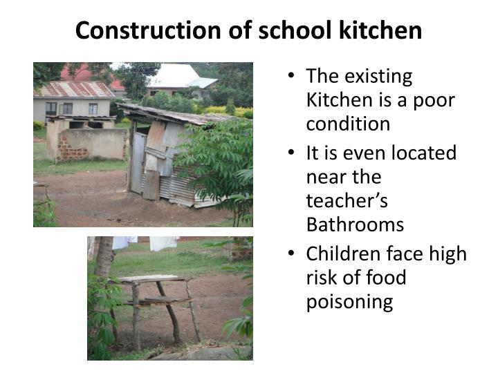 Construction of school kitchen