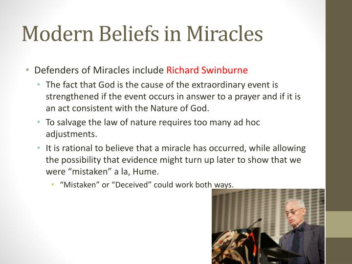 Modern Beliefs in Miracles