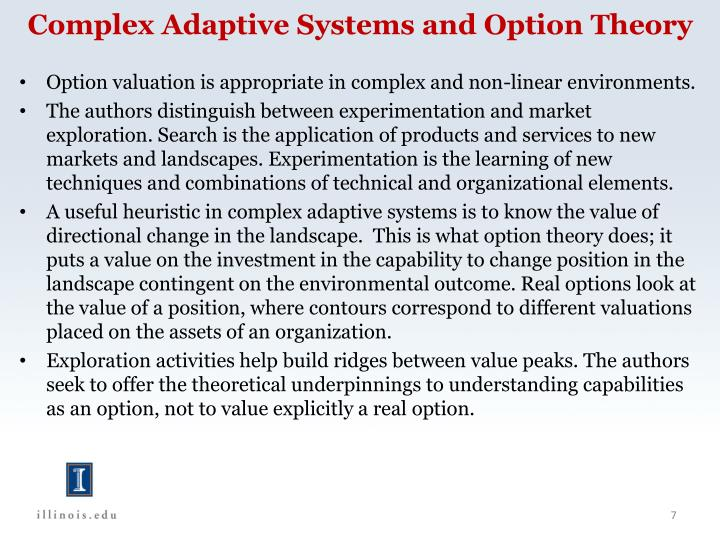 Complex Adaptive Systems and Option Theory