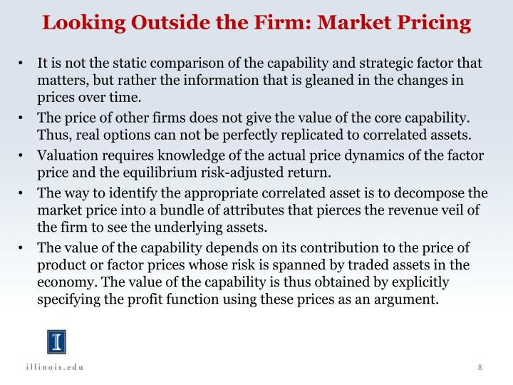 Looking Outside the Firm: Market Pricing