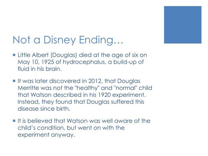 Not a Disney Ending…