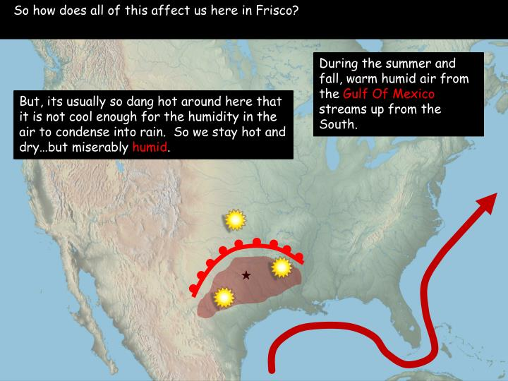 So how does all of this affect us here in Frisco?