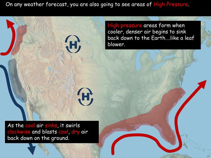 On any weather forecast, you are also going to see areas of