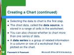 creating a chart continued