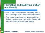 formatting and modifying a chart continued1