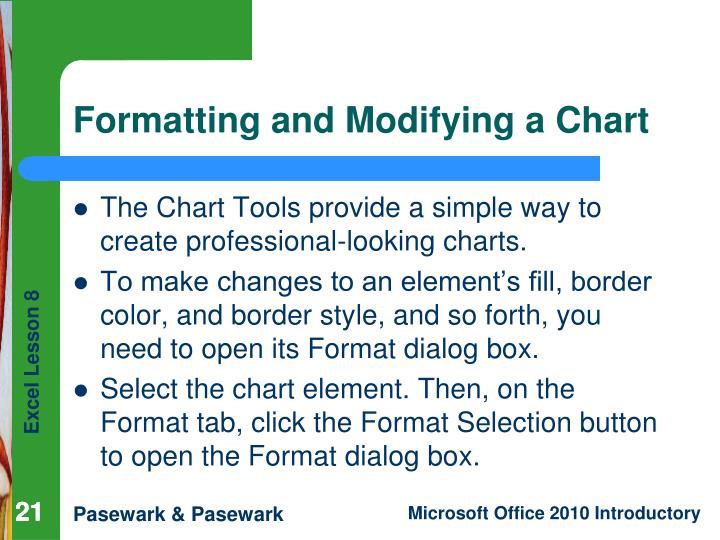 The Chart Tools provide a simple way to create professional-looking charts.