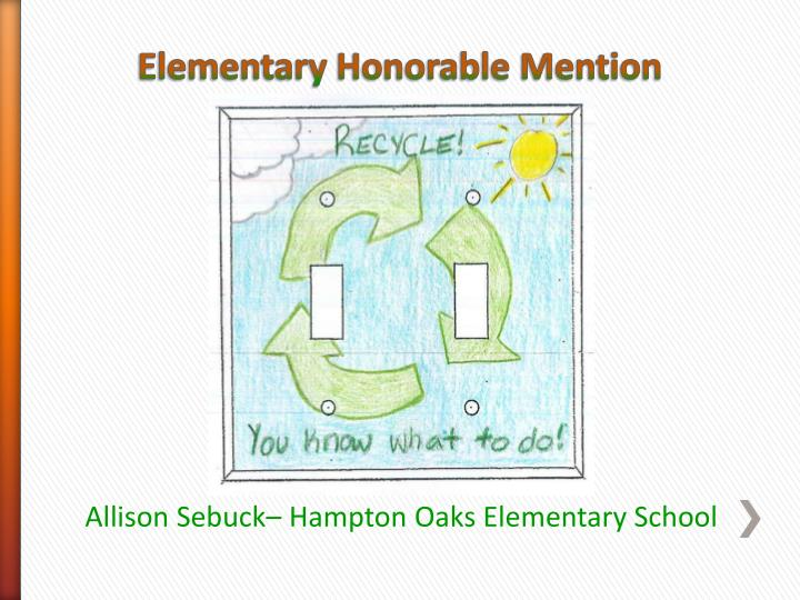 Elementary Honorable Mention