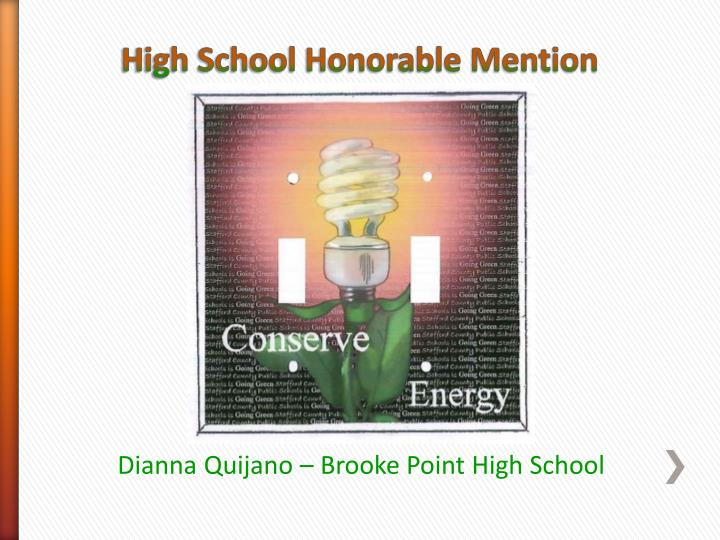 High School Honorable Mention