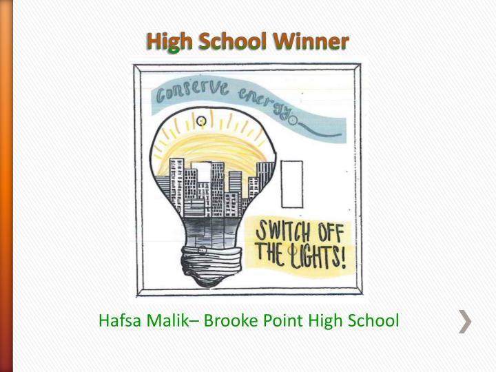 High School Winner