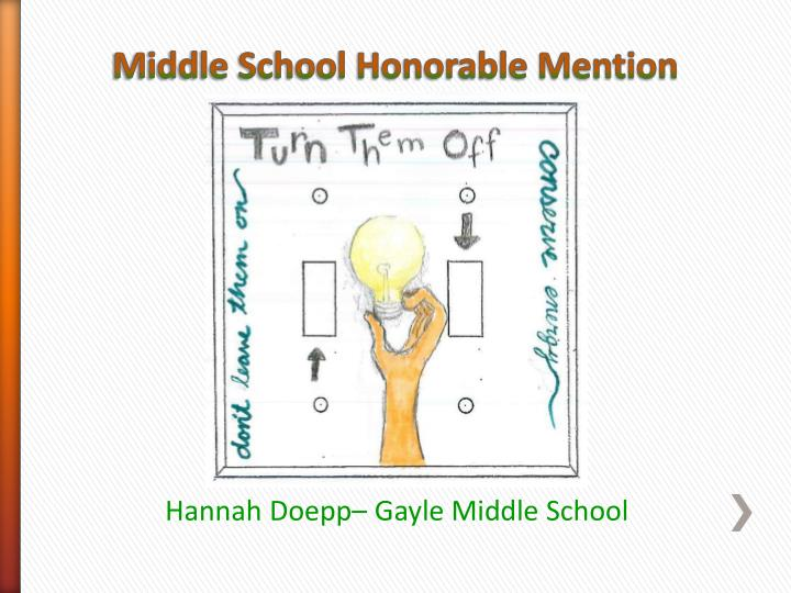 Middle School Honorable Mention