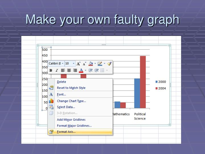 Make your own faulty graph