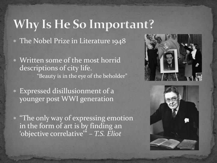 1948 literature nobelist