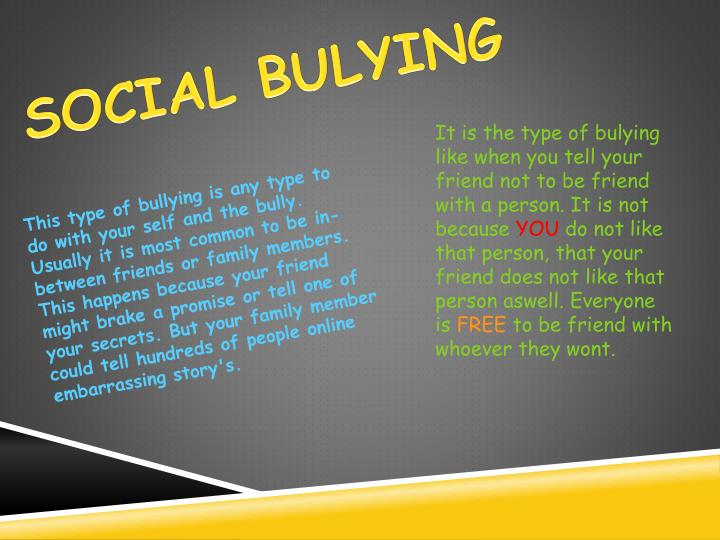 SOCIAL BULYING