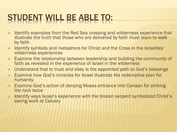 Identify examples from the Red Sea crossing and wilderness experience that illustrate the truth that those who are delivered by faith must learn to walk by faith