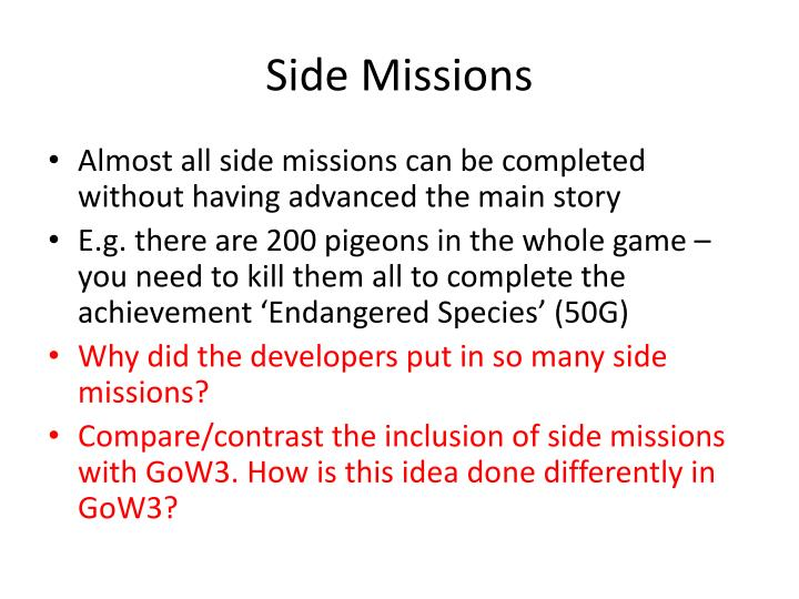 Side Missions