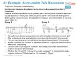 an example accountable talk discussion
