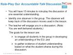 role play our accountable talk discussion